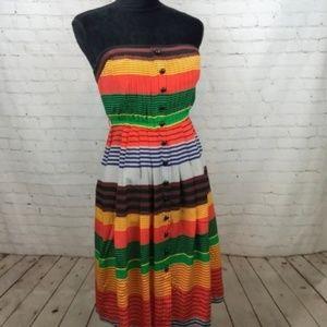 Plenty by Tracy Reese Women Dress Orange Striped